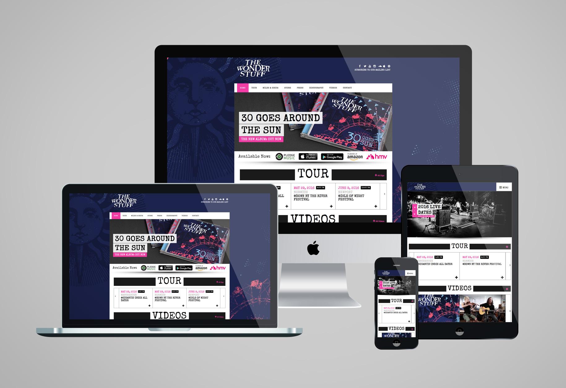 New website for The Wonder Stuff